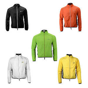 Rockbros Cycling Outdoor Sports Jersey Wind Coat Jacket Long Sleeve Black S-4xl Cycling