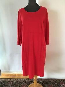 beispiellos gut aussehend zuverlässige Qualität Details zu Marina Rinaldi - Kleid, Jerseykleid - rot - Größe M - Italien,  Luxus