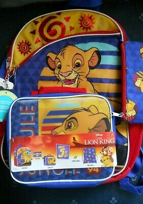Lion King 5 Piece Backpack Set NEW WITH TAGS