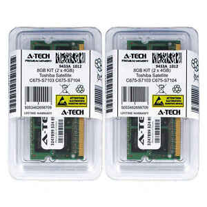 8GB-Kit-2-x-4GB-Toshiba-Satellite-C675-S7103-C675-S7104-C675-S7106-RAM-Speicher