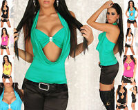 Sexy Women Clubbing Top New Ladies Party Blouse Hot Girls Shirt Size 6 8 10
