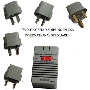 Dual Power 50w 1600 Watt 5 Plug 240 220v To 120 110v