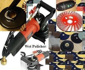 Wet-Dry-Dust-Free-Polisher-Grinder-amp-Shroud-Cover-Concrete-Granite-Stone-Marble