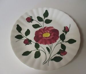 Vintage-Blue-Ridge-Southern-Potteries-Red-Nocturne-Colonial-Dinner-Plate