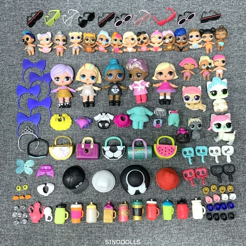 100Pcs LOL Surprise Doll Lil sisters Punk Boi Unicorn Pet cMassehes accessroy Geschenk