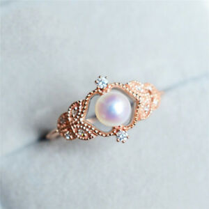 Image Is Loading Rose Gold Pearl Lady Crystal Fashion Gift Wedding
