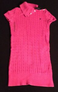 POLO-RALPH-LAUREN-GIRLS-PINK-CABLE-KNIT-DRESS-XL-16Y-RRP-89-NOW-39