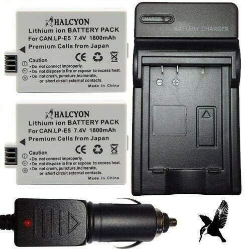 Halcyon 1800 mAH Lithium Ion Replacement Battery and Charger Kit for Fujifilm FinePix F660EXRD 16MP Digital Camera and Fujifilm NP-50