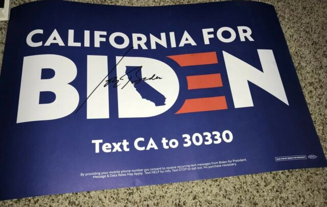 Joe Biden Signed Campaign Poster 14x20 2020 President With Proof Ebay