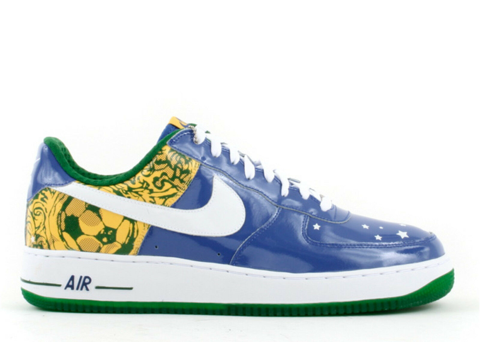 NIKE AIR FORCE 1 PRM RONALDINHO BRAZIL WORLD CUP Neymar Blue Yellow Green 12.5 New shoes for men and women, limited time discount
