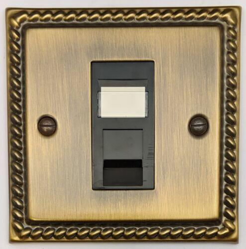 gradateurs plug sockets cuisinière Monarque avec antique bronze couvrir les interrupteurs