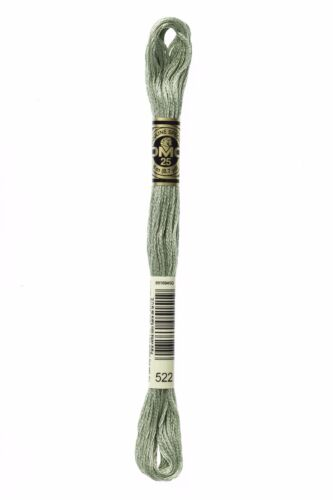 1 fil Mouliné DMC 117 tons verts pâles 24 couleurs différentes disponibles