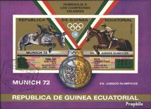 Äquatorialguinea Block170 complete Issue Cancelled 1975 Bullfighti Fine Used