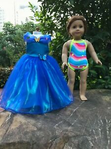 Cinderella-dress-Swimwear-Doll-Clothes-for-American-girl-18-034-doll-clothes-2pc