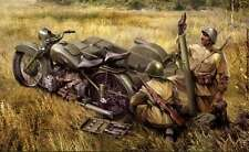 Zvezda 1/35 Soviet Motorcycle M-72 with 82mm Mortar #3651 *Sealed*New*