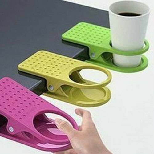 New High Quality Home Office Supplies Hold Coffee Mug Cup Desk Clip Holder