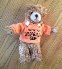 "CINCINNATI BENGALS plush TEDDY BEAR stuffed animal NFL 8"" HOODIE football"