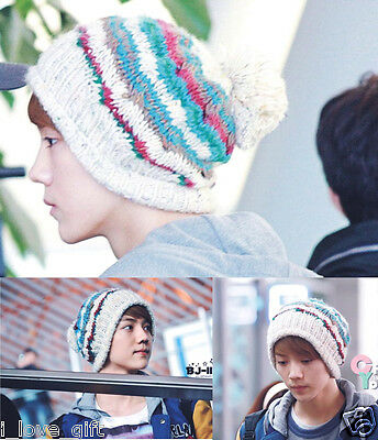 EXO M K Cap Knit Beanie Hat Kpop Luhan Kris Baek Hyun Adjustable Snapback fitted