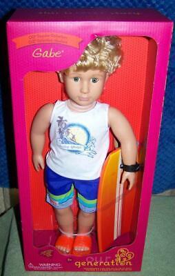 New Our Generation 18 inch Surfer Boy Doll Gabe w Surfboard Good friend for Joss