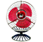 Tisch-Ventilator-Hitachi-B-445-Kugel-Design-Vintage-Desk-Fan-60er-70er-Japan Indexbild 1