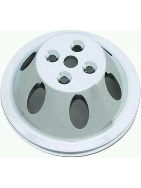 "RPC Polished Alloy Water, Pump Upper Pulley, Single, Groove , 6.60"" … (R9478POL)"