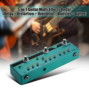 MOSKY-BE5-Multi-Guitar-Effects-Pedal-Delay-Distortion-Overdrive-Booster-Buffer