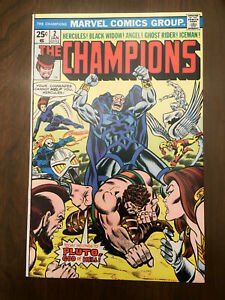CHAMPIONS-2-Black-Widow-Ghost-Rider-1976-VERY-FINE-NEAR-MINT