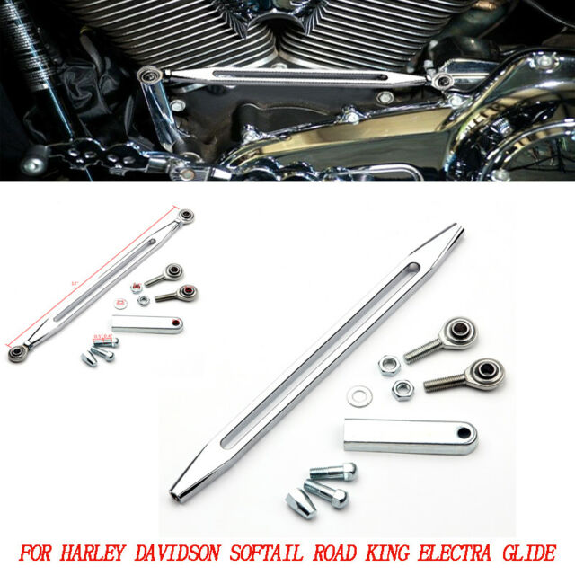Clipsone Chrome CNC Deep Cut Gear Shift Linkage for Harley Touring Softail Dyna 1980-2018