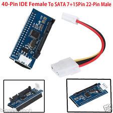 40-Pin IDE Weiblich To SATA 7+15Pin 22-Pin Männlich adapter PATA NACH SATA Karte