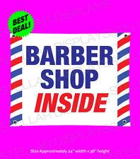 Barber Shop Inside Banner 3x2 Beauty Salon Professional Open Sign Pole Outdoor
