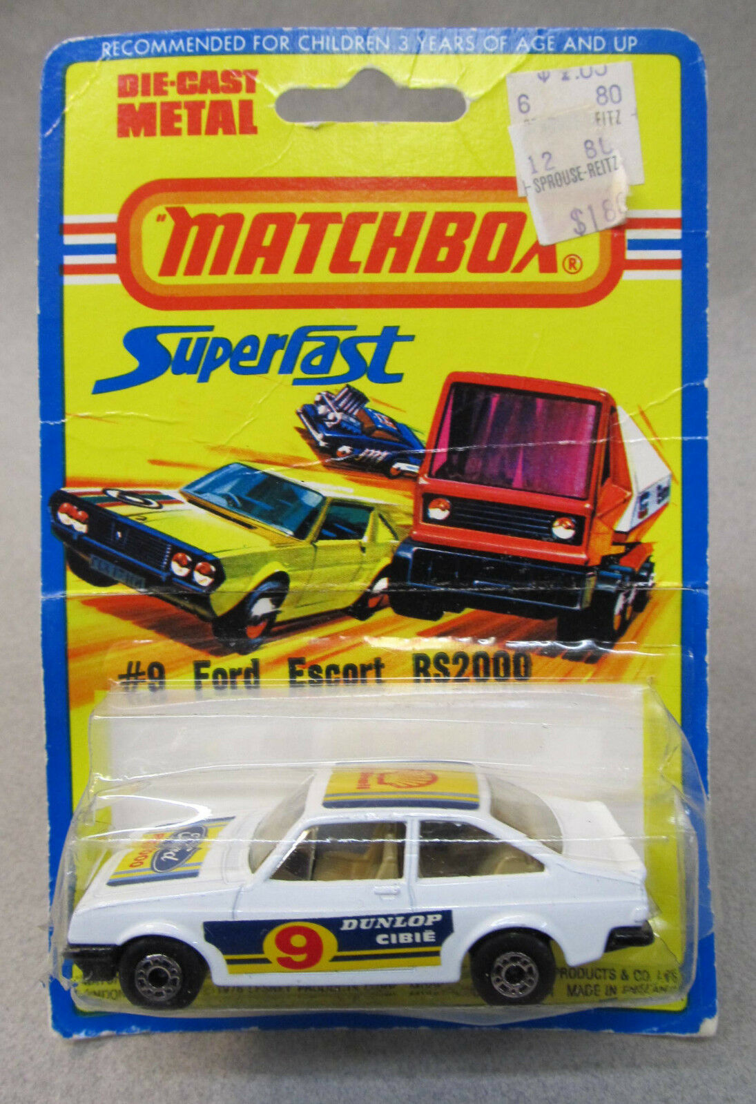 1976 Matchbox FORD ESCORT RS2000 Rally Superfast factory sealed Mint on card