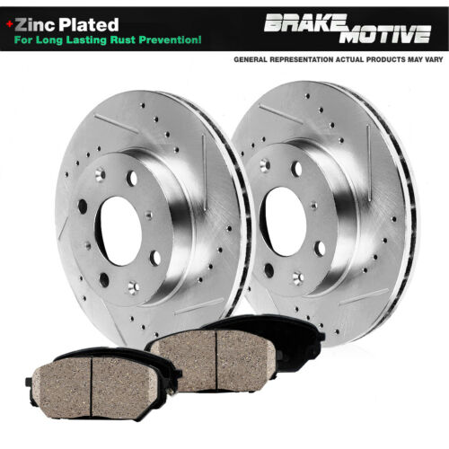 FRONT Drill Slot BRAKE ROTORS CERAMIC Pads For 1988 1989 Honda Civic Wagon CRX