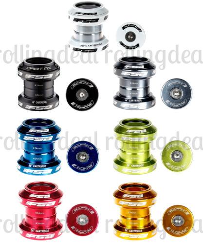 "7 Colors FSA Orbit MX Threadless Bicycle Headset 1-1//8/"" 34mm W//Top Cap"