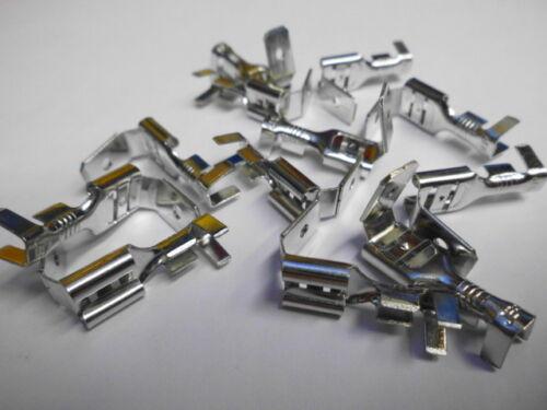 100 steckverteiler unisoliert steckmaß 6,3 a 2,5 mm² Cavo ottone//RAMATI