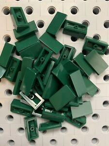 Lego 5 New Olive Green Tile Pieces 1 x 3