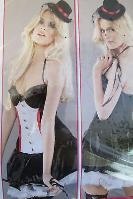 Sexy Ex Ann Summers 3 Peice Dress Up Ring Leader Outfit Size 10,12,14,16,18,& 20