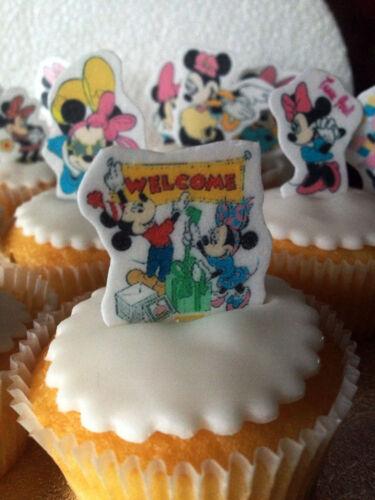 Minnie Mouse x48 Taza De Hadas Pastel Comestible toppers Hazlo tú mismo Soporte Tarjeta de Oblea de UPS