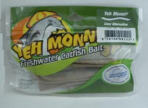 "Fishbites 122 Yehmonn Catfish Strips Liver Scent 5/8"" x 13"" 2CT 26792"