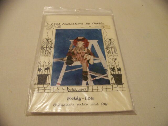 """Vintage Craft Sewing Pattern First Impressions by Debbie Amy Sue 24/"""" Rag Doll"""