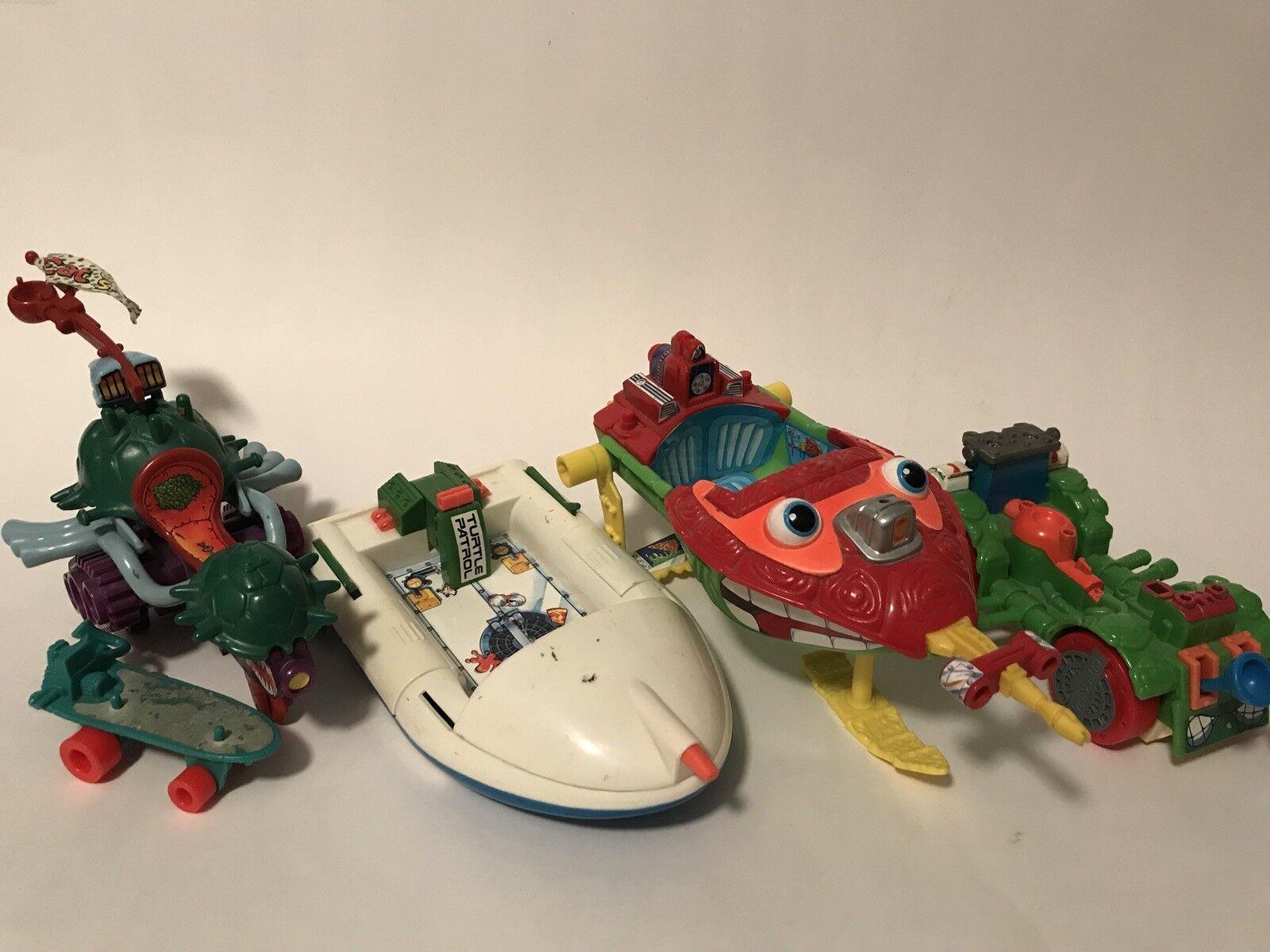 Teenage Mutant Ninja Turtles Playmates TMNT Vintage Lot Vehicles 1988 1991