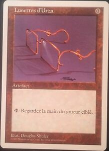 Lunettes-d-039-Urza-VF-MISPRINT-French-Glasses-of-Urza-Mana-Cost-0-Magic-Played