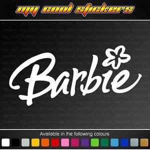 Barbie 15cm Vinyl Sticker Decal for car, ute, truck, bike, window - Barbie logo