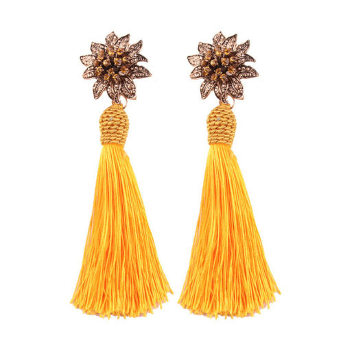 Fashion Femmes Bohemin fleurs boucles d/'oreilles pendantes Tassel Statement Dangle Earrings