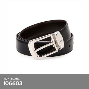 f0261a1eae2 Image is loading MontBlanc-106603-Contemporary-Line-Men-039-s-Reversible-