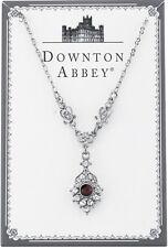 Downton Abbey Silver Tone Violet Purple Crystal Drop Pendant Necklace 17897