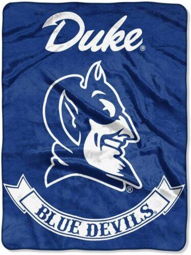 Duke Blue Devils Plush Raschel Throw//Blanket