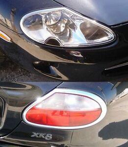 Details about FAST EMS COMBO Set CHROME Head & Tail Light Trims for 96-06  JAGUAR XK XK8 XKR