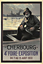 Art Ad Cherbourg  1932 Expo   Deco  Travel   Poster Print