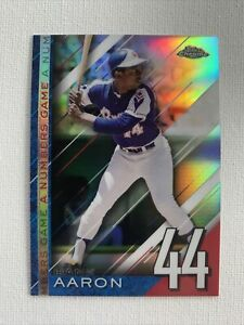 Hank Aaron 2020 Topps Chrome UPDATE-Numbers Game PRISM REFRACTOR Card #NGC-25