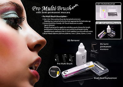 Eyelash Glam EG Semi-Permanent Mascara Kit Last Up To 3 Weeks, Smear/Water Proof